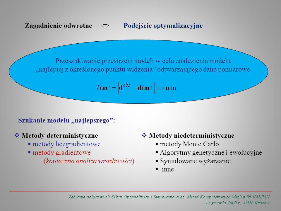 Zebranie połączonych Sekcji Optymalizacji i Sterowania oraz Metod Komputerowych Mechaniki KM-PAN 17 grudnia 2009 r., AGH, Kraków