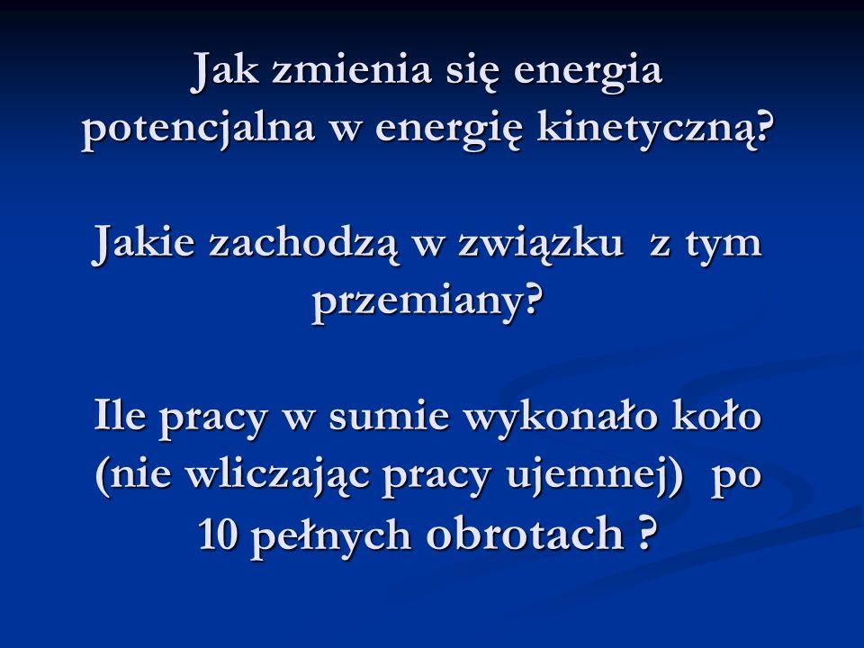 Jak zmienia się energia potencjalna w energię kinetyczną.