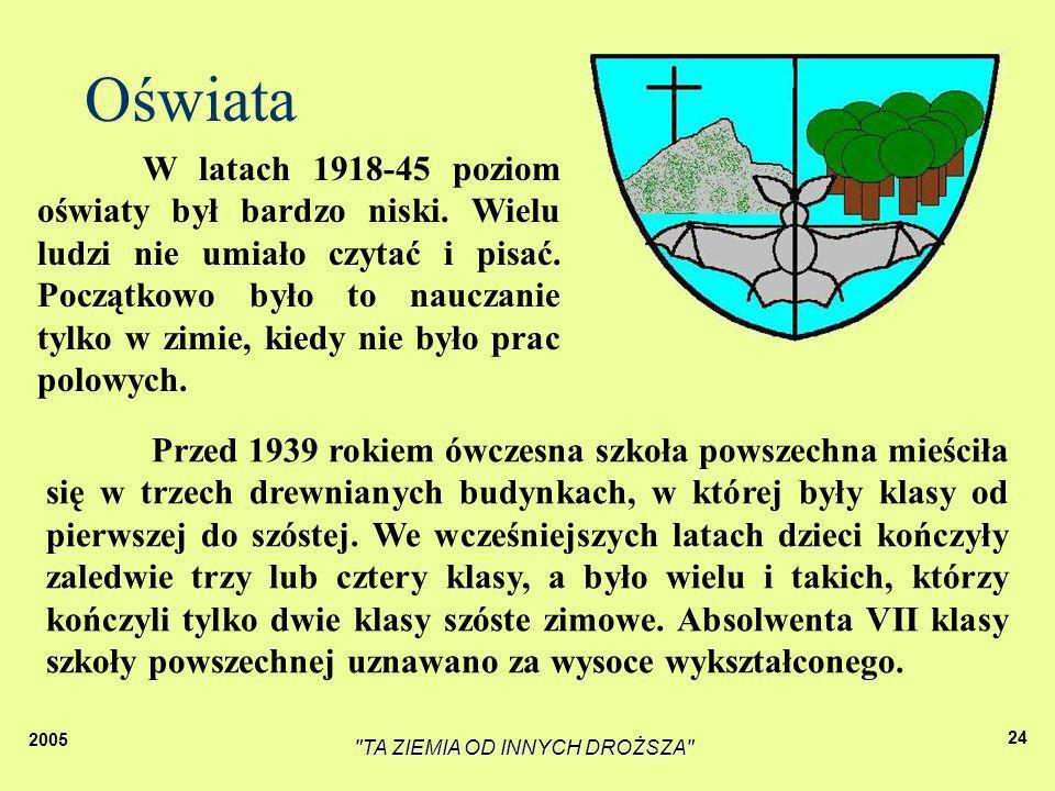 2005 TA ZIEMIA OD INNYCH DROŻSZA 23 Moja mała Ojczyzna To właśnie moja wioska To piękne duże domy Wzdłuż asfaltowej długiej drogi A dziś...