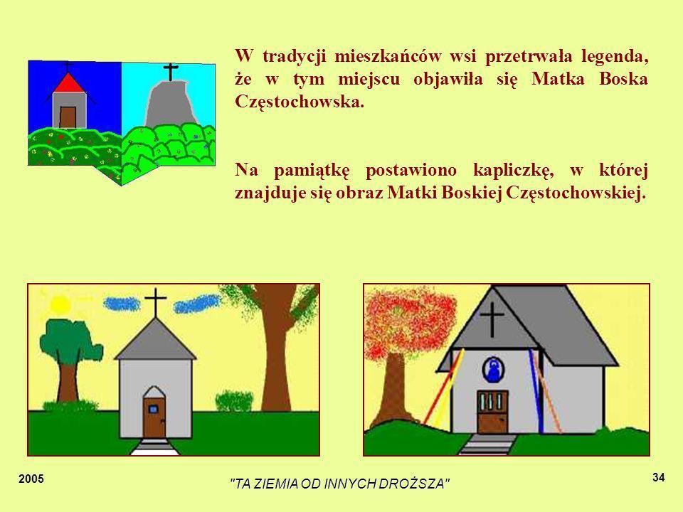 2005 TA ZIEMIA OD INNYCH DROŻSZA 33 Kapliczka znajduje się w Starej Wsi, obok szkoły.