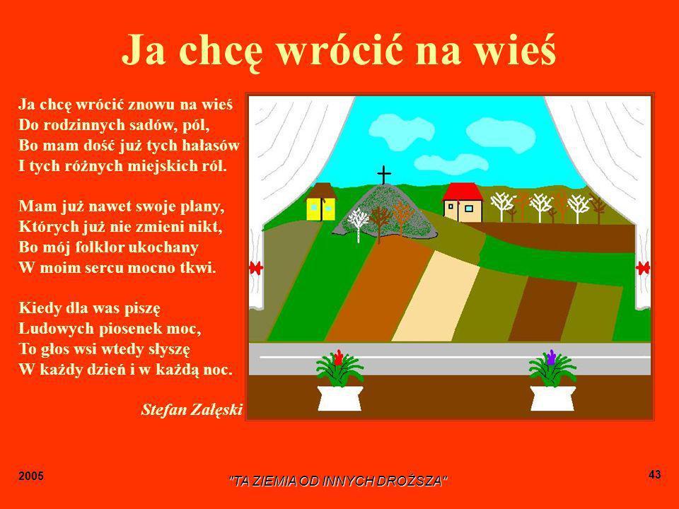 2005 TA ZIEMIA OD INNYCH DROŻSZA 42 Męski: strój krakowski ma kilka odmian.