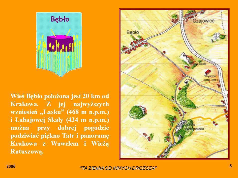 2005 TA ZIEMIA OD INNYCH DROŻSZA 5 Wieś Bębło położona jest 20 km od Krakowa.