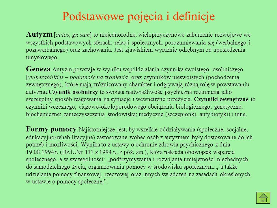 Literatura 1.Gałkowski T., Dziecko autystyczne w środowisku rodzinnym i szkolnym, Warszawa 1995 r.