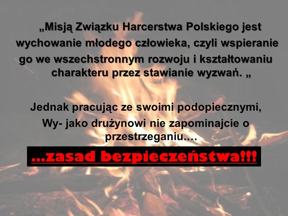 Misją Związku Harcerstwa Polskiego jest Misją Związku Harcerstwa Polskiego jest wychowanie młodego człowieka, czyli wspieranie wychowanie młodego czło