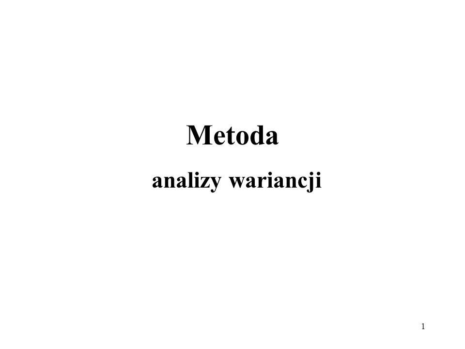 1 Metoda analizy wariancji