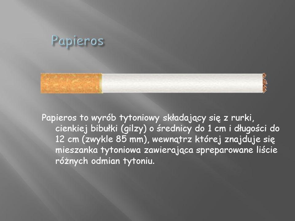 Papieros to wyrób tytoniowy składający się z rurki, cienkiej bibułki (gilzy) o średnicy do 1 cm i długości do 12 cm (zwykle 85 mm), wewnątrz której znajduje się mieszanka tytoniowa zawierająca spreparowane liście różnych odmian tytoniu.