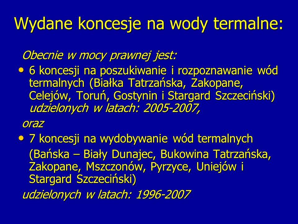 Atlas zasobów geotermalnych na Niżu Polskim – publikacja wykonana na zamówienie Ministra Środowiska z 2006 r.