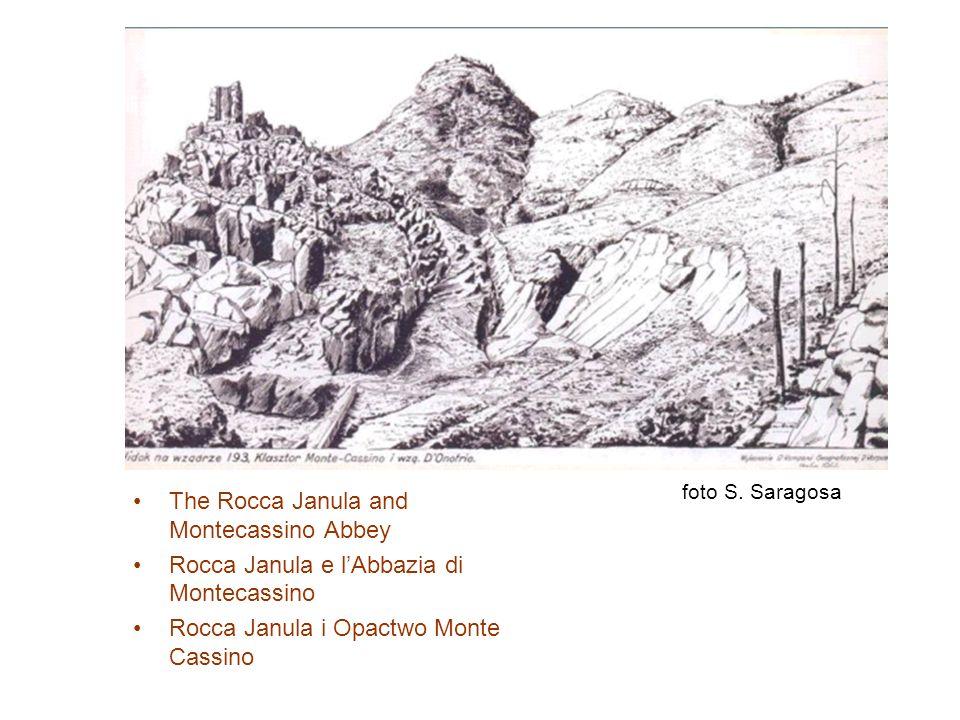 The Rocca Janula and Montecassino Abbey Rocca Janula e lAbbazia di Montecassino Rocca Janula i Opactwo Monte Cassino foto S. Saragosa