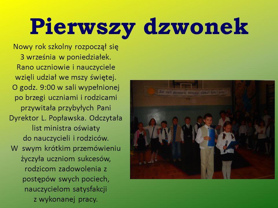 Zaproszonych gości witała Pani Dyrektor Lilianna Popławska.