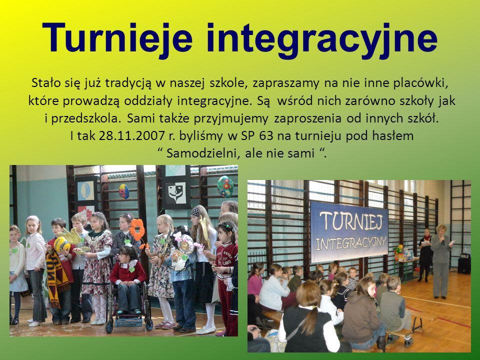 Turnieje integracyjne Stało się już tradycją w naszej szkole, zapraszamy na nie inne placówki, które prowadzą oddziały integracyjne.