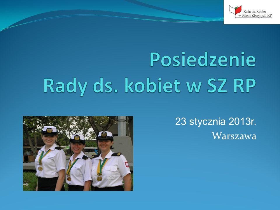 Plan posiedzenia Rady ds.Kobiet w SZ RP – 23.01.2013r.