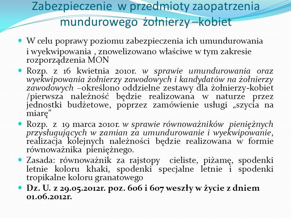 Wizerunek kobiety -żołnierza Artykuł –Gazeta Wyborcza -14.01.2013r.