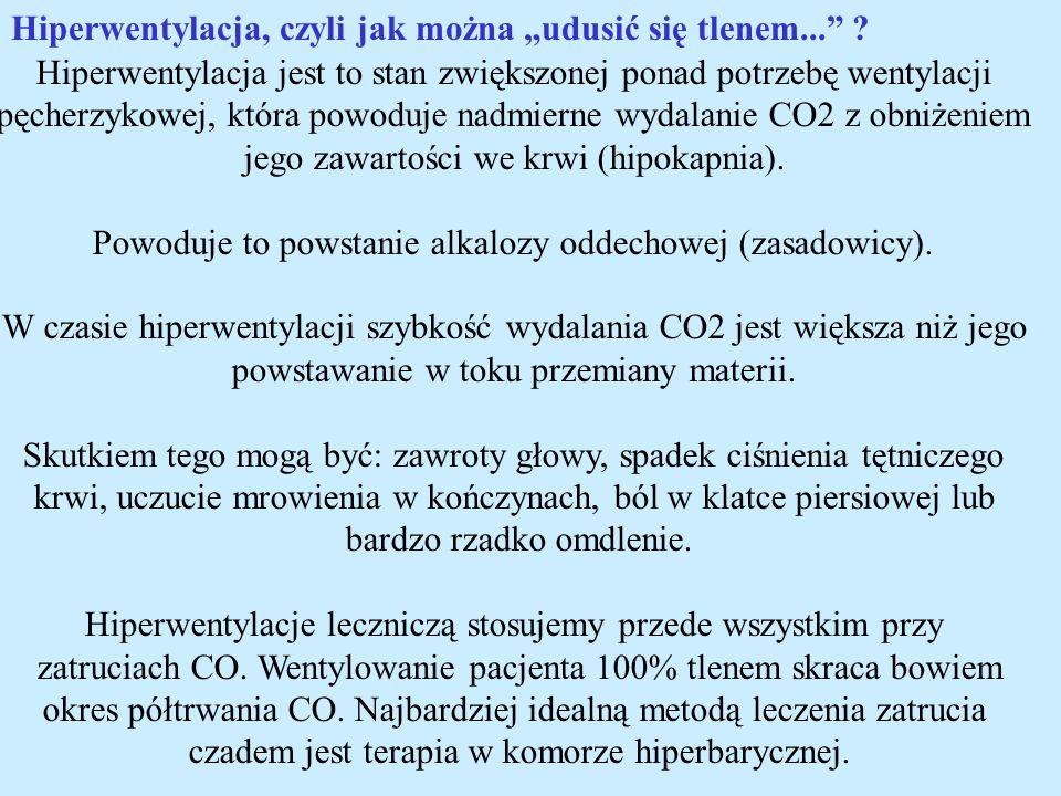 Hiperwentylacja jest to stan zwiększonej ponad potrzebę wentylacji pęcherzykowej, która powoduje nadmierne wydalanie CO2 z obniżeniem jego zawartości