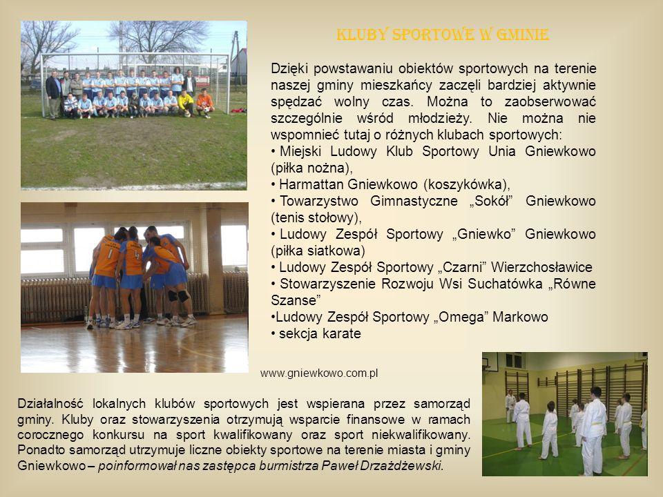 Dzięki powstawaniu obiektów sportowych na terenie naszej gminy mieszkańcy zaczęli bardziej aktywnie spędzać wolny czas. Można to zaobserwować szczegól