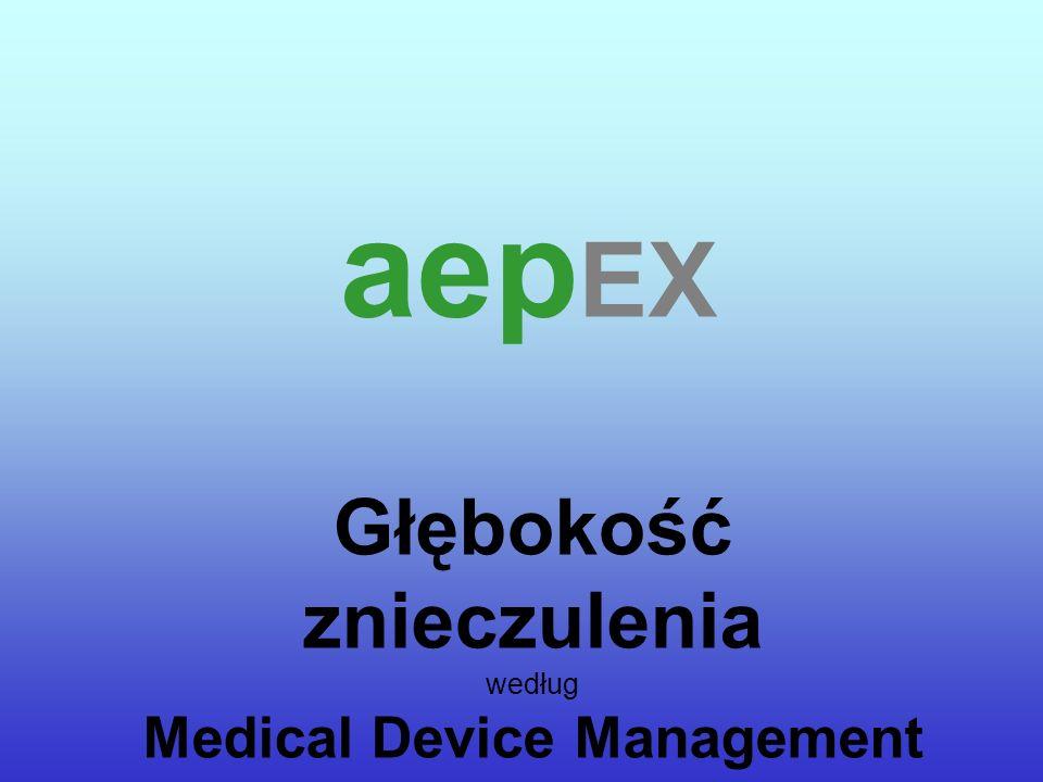 Głębokość znieczulenia według Medical Device Management aep EX