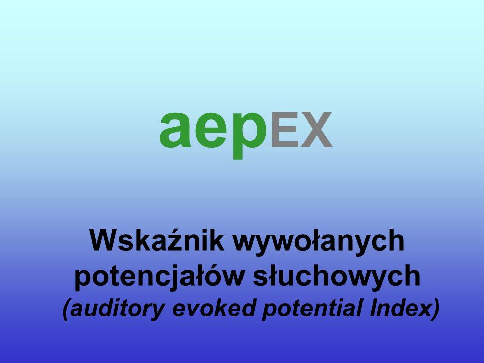 auditory evoked potential IndEX Wskaźnik wywołanych potencjałów słuchowych aep EX