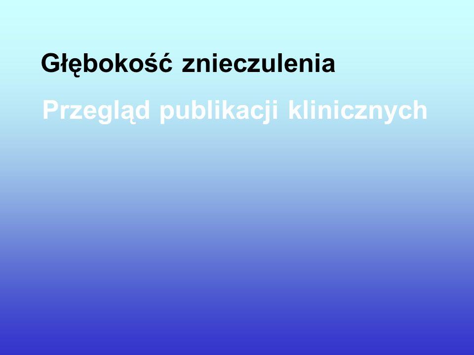 Głębokość znieczulenia Przegląd publikacji klinicznych