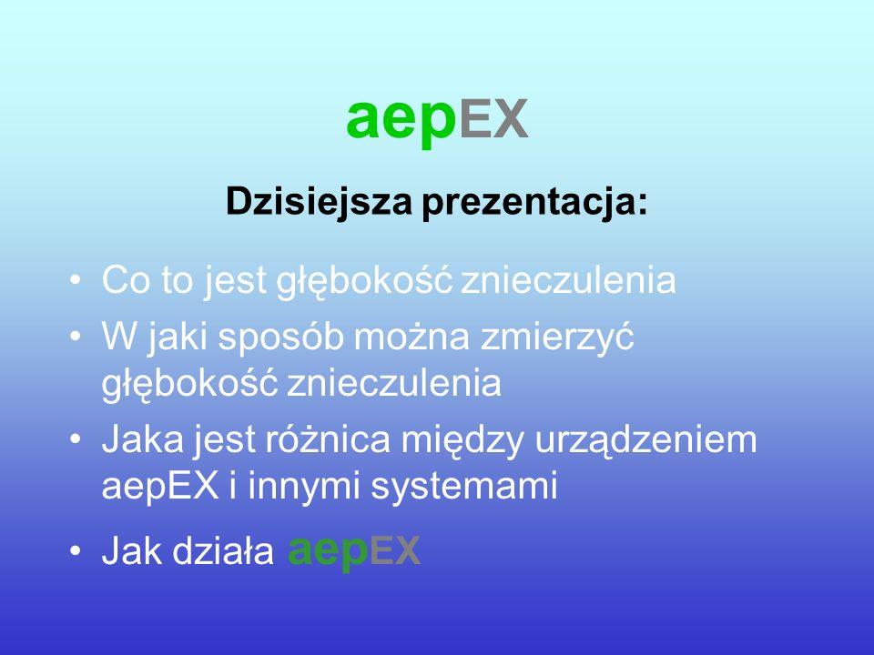 Głębokość znieczulenia Następny etap : Analiza bispektralna jest to system bierny Analiza bispektralna NIE jest systemem działającym w czasie rzeczywistym Wywołane potencjały słuchowe (Auditory Evoked Potential - AEP) są systemem aktywnym AEP składa się ze stymulacji i odpowiedzi na stymulację AEP jest to system działający w czasie rzeczywistym aep EX oznacza przyszłość