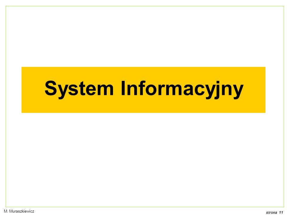 strona 11 M. Muraszkiewicz System Informacyjny