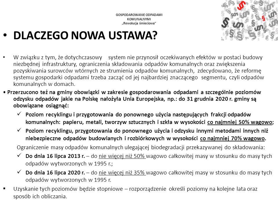 Wypełnienie i dostarczenie do UG Wejherowo deklaracji jest bardzo ważne ponieważ na tej podstawie od 1 lipca 2013 r.