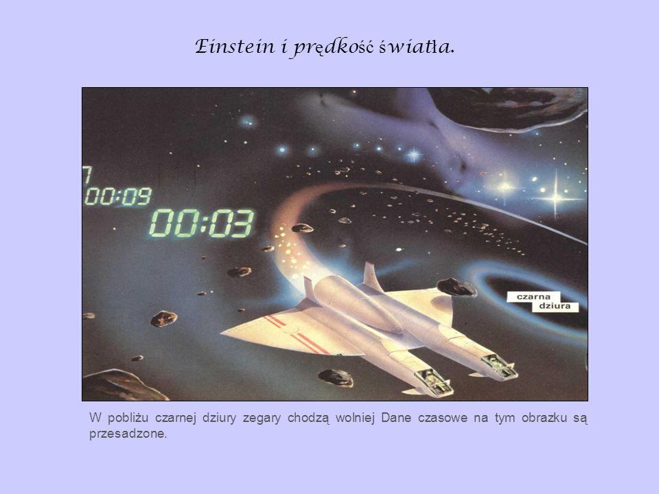 Einstein i pr ę dko ść ś wiat ł a. W pobliżu czarnej dziury zegary chodzą wolniej Dane czasowe na tym obrazku są przesadzone.