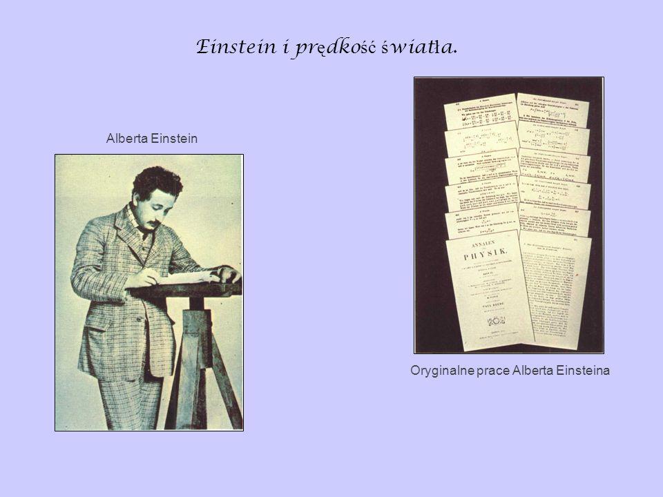 Einstein i pr ę dko ść ś wiat ł a. Oryginalne prace Alberta Einsteina Alberta Einstein