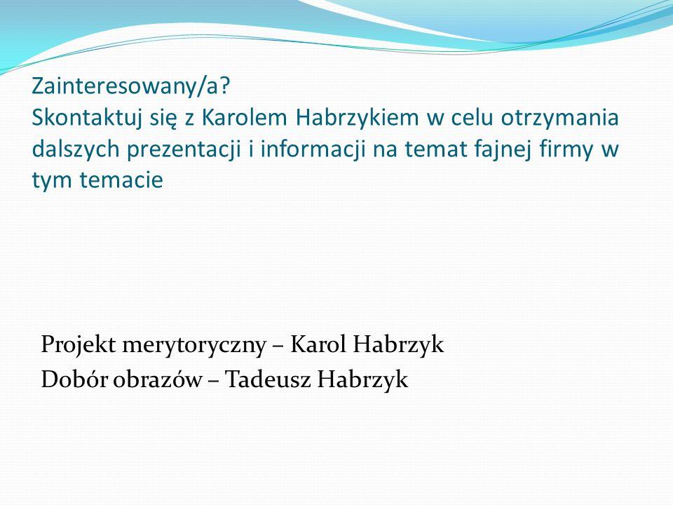 Zainteresowany/a? Skontaktuj się z Karolem Habrzykiem w celu otrzymania dalszych prezentacji i informacji na temat fajnej firmy w tym temacie Projekt