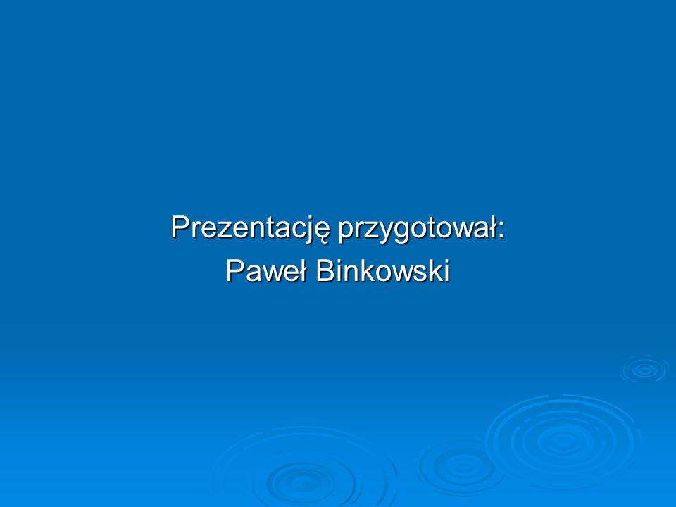 Prezentację przygotował: Paweł Binkowski