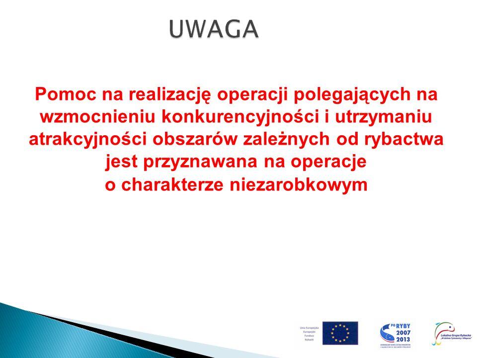 Pomoc na realizację operacji polegających na wzmocnieniu konkurencyjności i utrzymaniu atrakcyjności obszarów zależnych od rybactwa jest przyznawana n