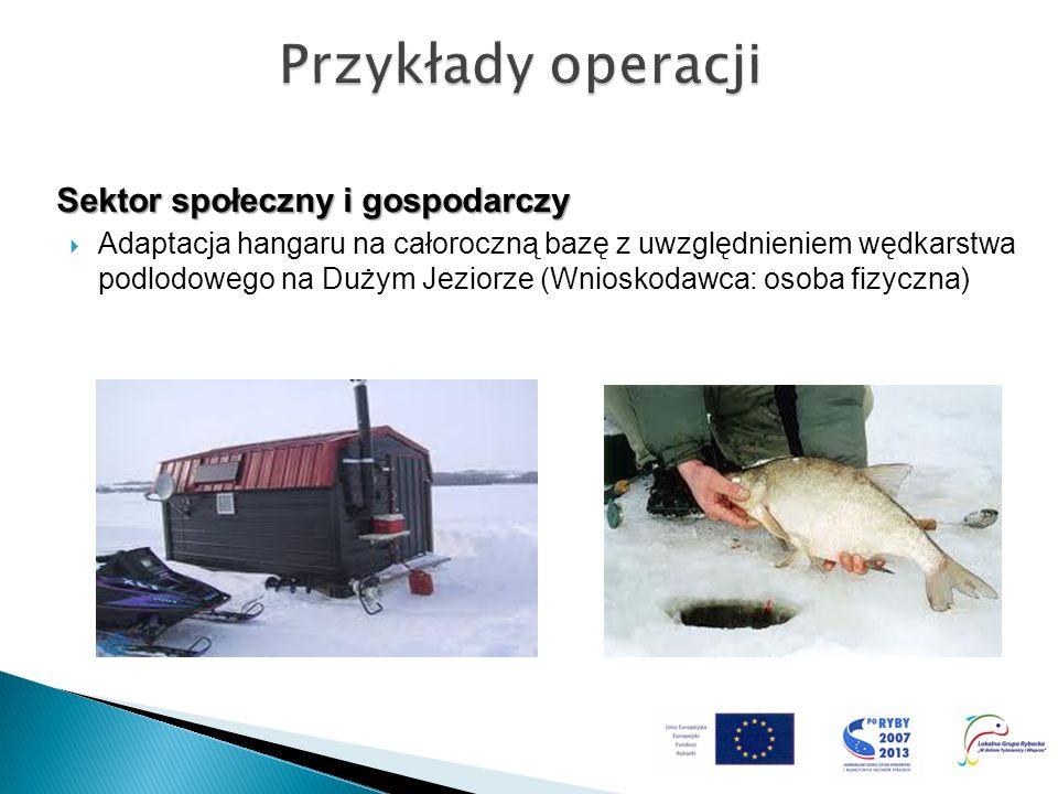 Sektor społeczny i gospodarczy Adaptacja hangaru na całoroczną bazę z uwzględnieniem wędkarstwa podlodowego na Dużym Jeziorze (Wnioskodawca: osoba fiz