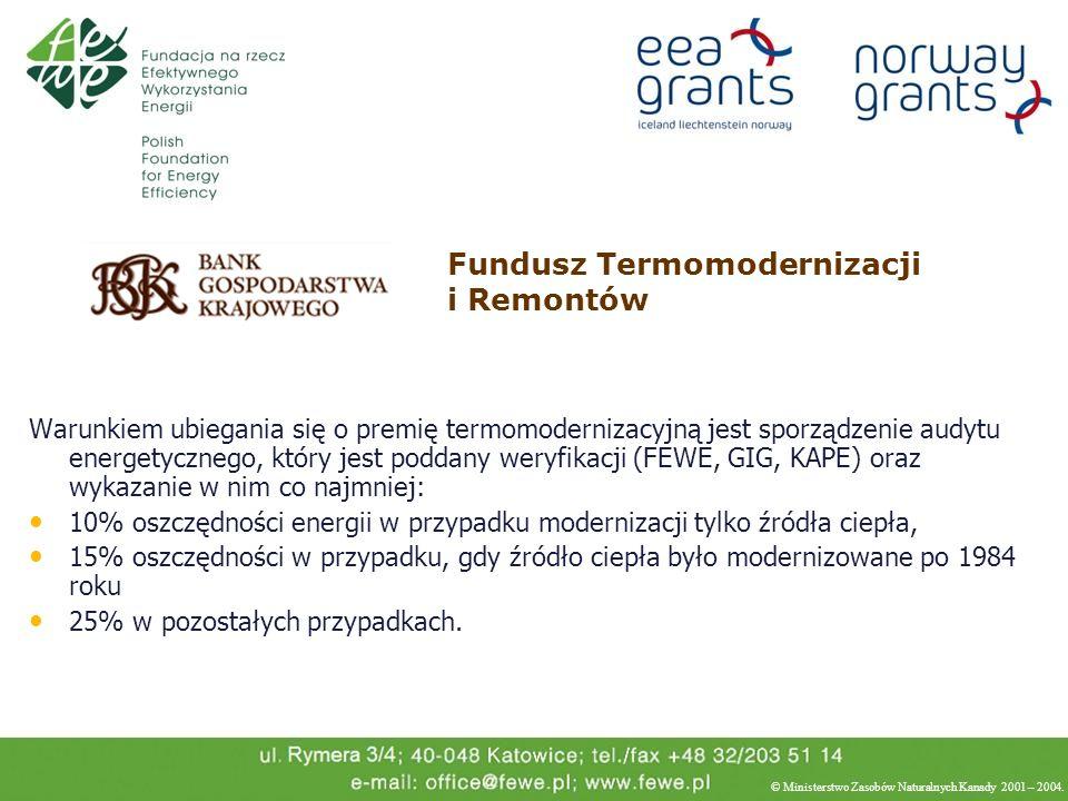 Warunkiem ubiegania się o premię termomodernizacyjną jest sporządzenie audytu energetycznego, który jest poddany weryfikacji (FEWE, GIG, KAPE) oraz wy