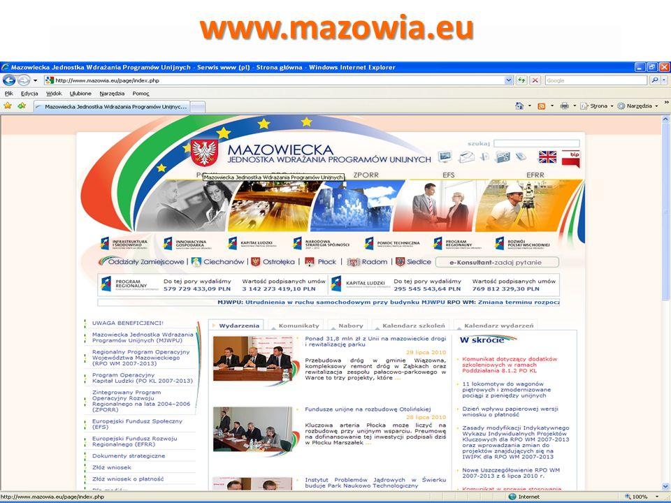 Program Operacyjny Kapitał Ludzki 2007-2013 Dodano część dotyczącą partnera krajowego