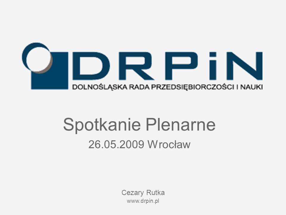 www.drpin.pl Spotkanie Plenarne 26.05.2009 Wrocław Cezary Rutka