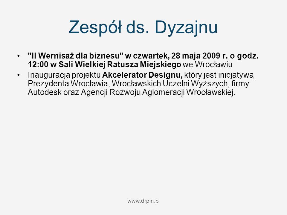 Zespół ds. Dyzajnu II Wernisaż dla biznesu w czwartek, 28 maja 2009 r.