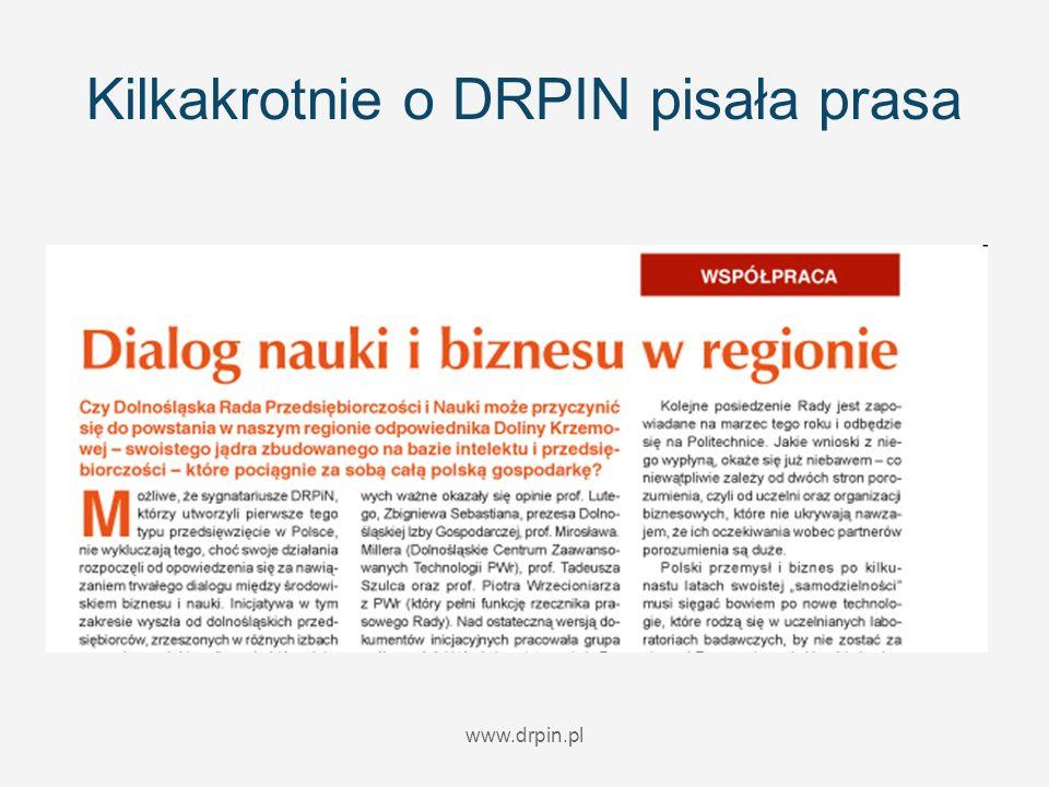 www.drpin.pl Kilkakrotnie o DRPIN pisała prasa