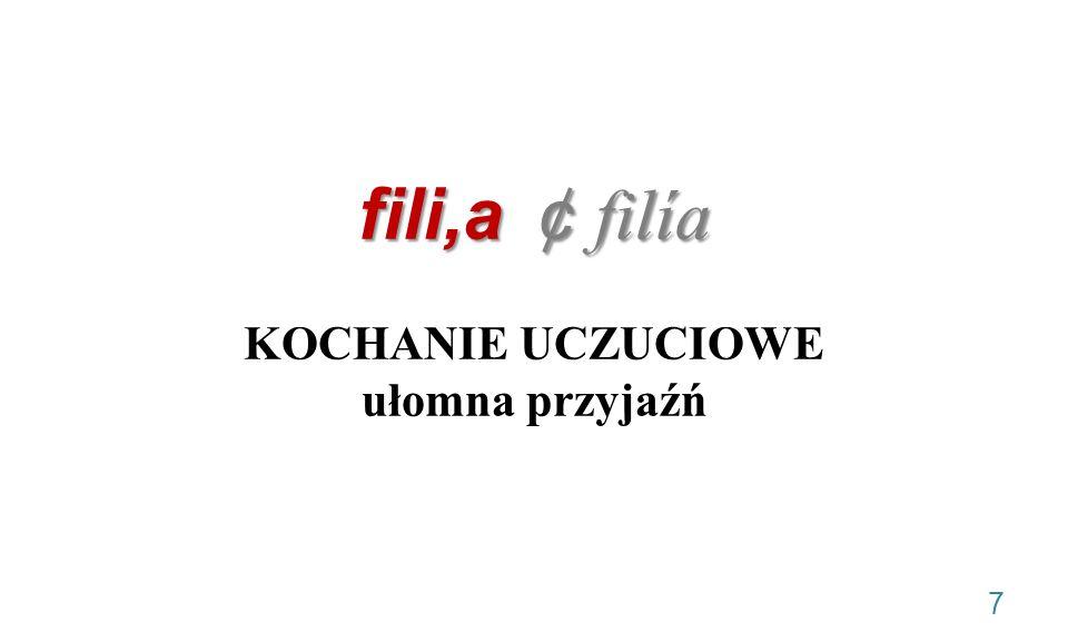 fili,a ¢ filía fili,a ¢ filía KOCHANIE UCZUCIOWE ułomna przyjaźń 7