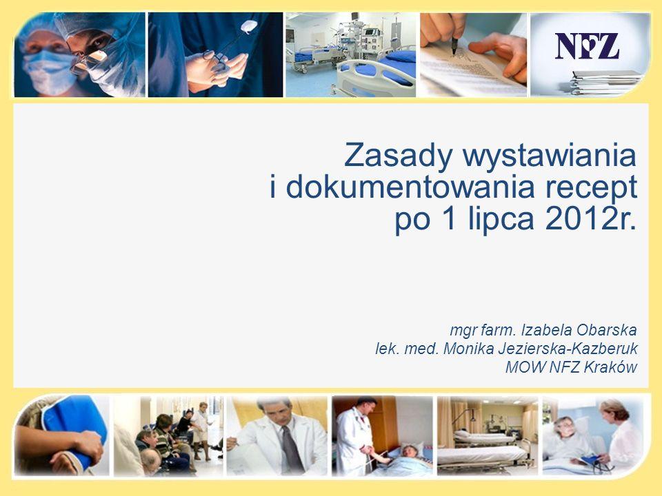 Przykłady nieprawidłowego prowadzenia dokumentacji medycznej Kontrola dokumentacji medycznej