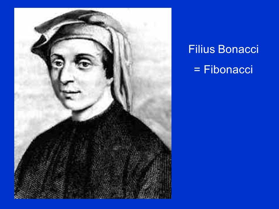 Filius Bonacci = Fibonacci
