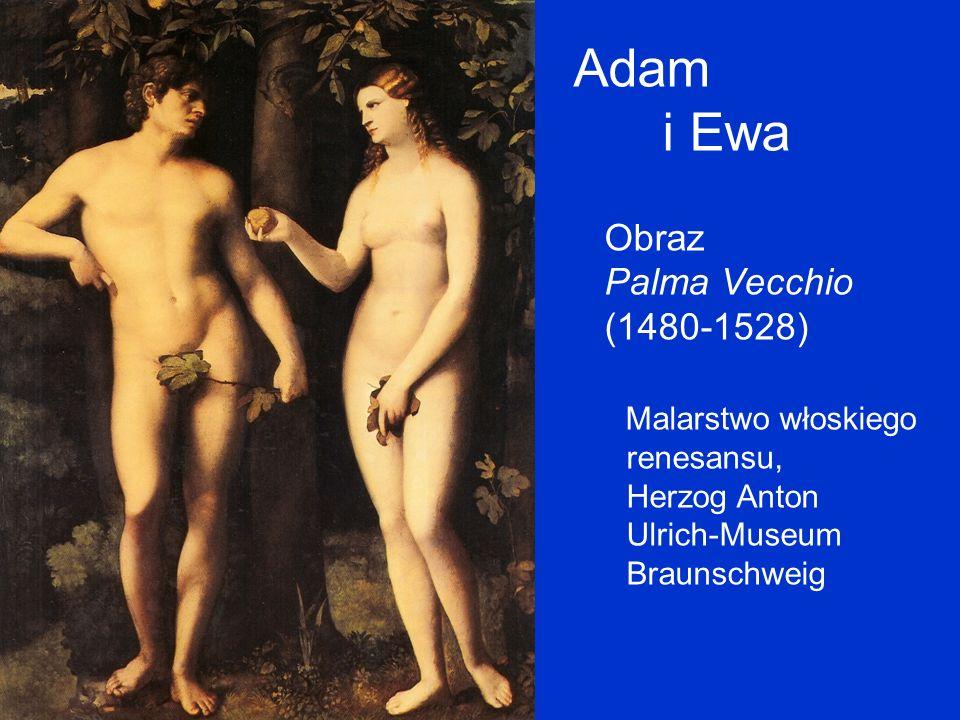Adam i Ewa Obraz Palma Vecchio (1480-1528) Malarstwo włoskiego renesansu, Herzog Anton Ulrich-Museum Braunschweig