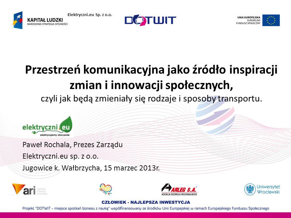 Przestrzeń komunikacyjna jako źródło inspiracji zmian i innowacji społecznych, czyli jak będą zmieniały się rodzaje i sposoby transportu. Paweł Rochal