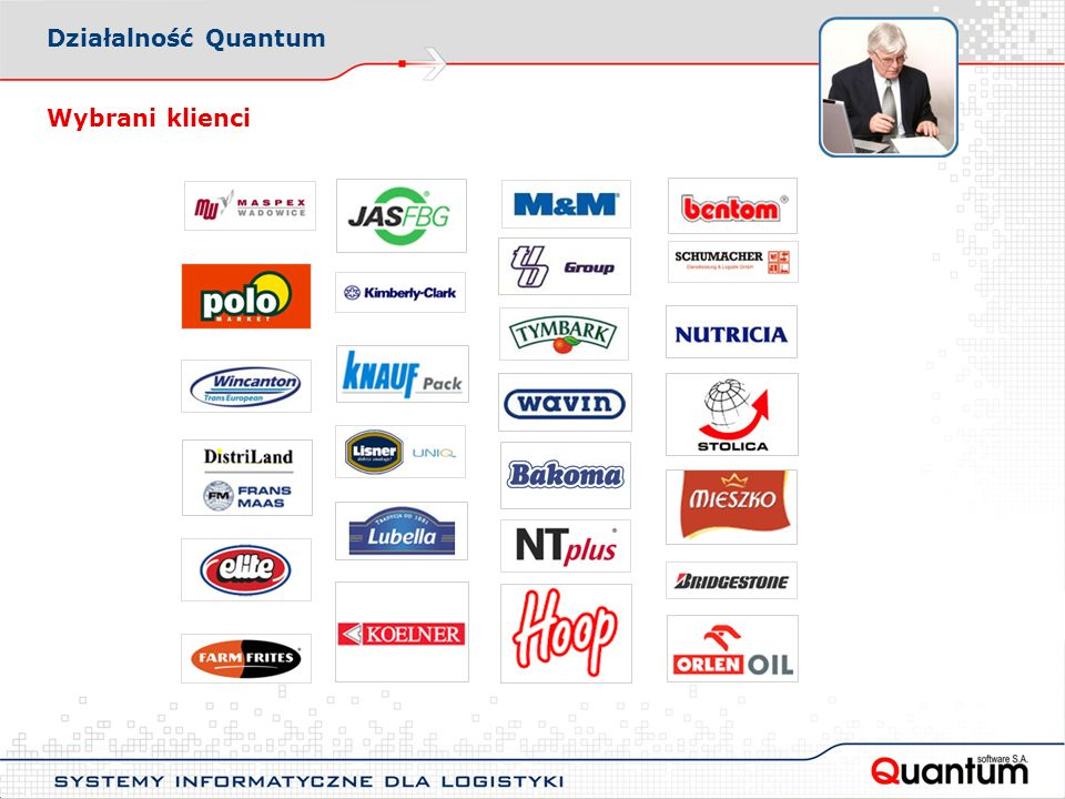 Wybrani klienci Działalność Quantum
