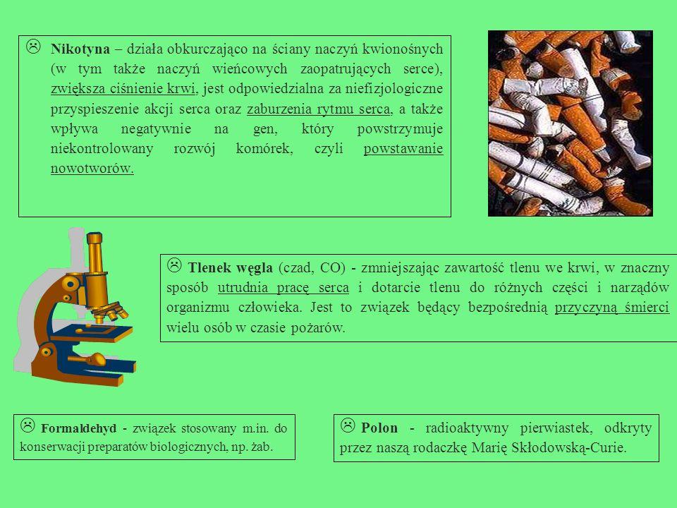 Z czego składa się dym tytoniowy.