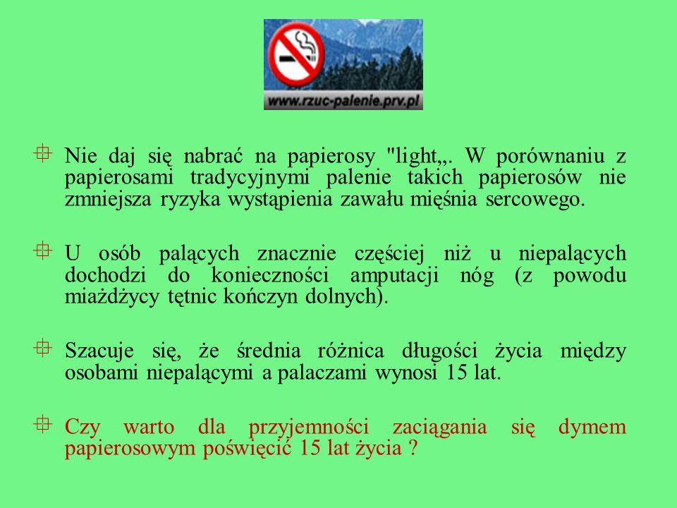 Nie daj się nabrać na papierosy light.