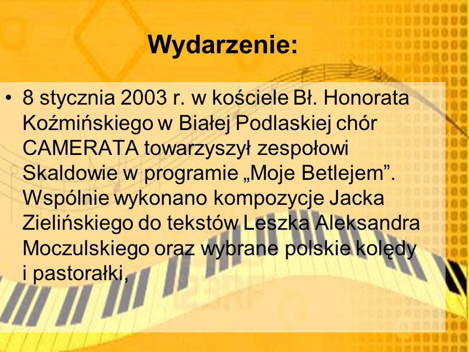 Wydarzenie: 8 stycznia 2003 r. w kościele Bł.