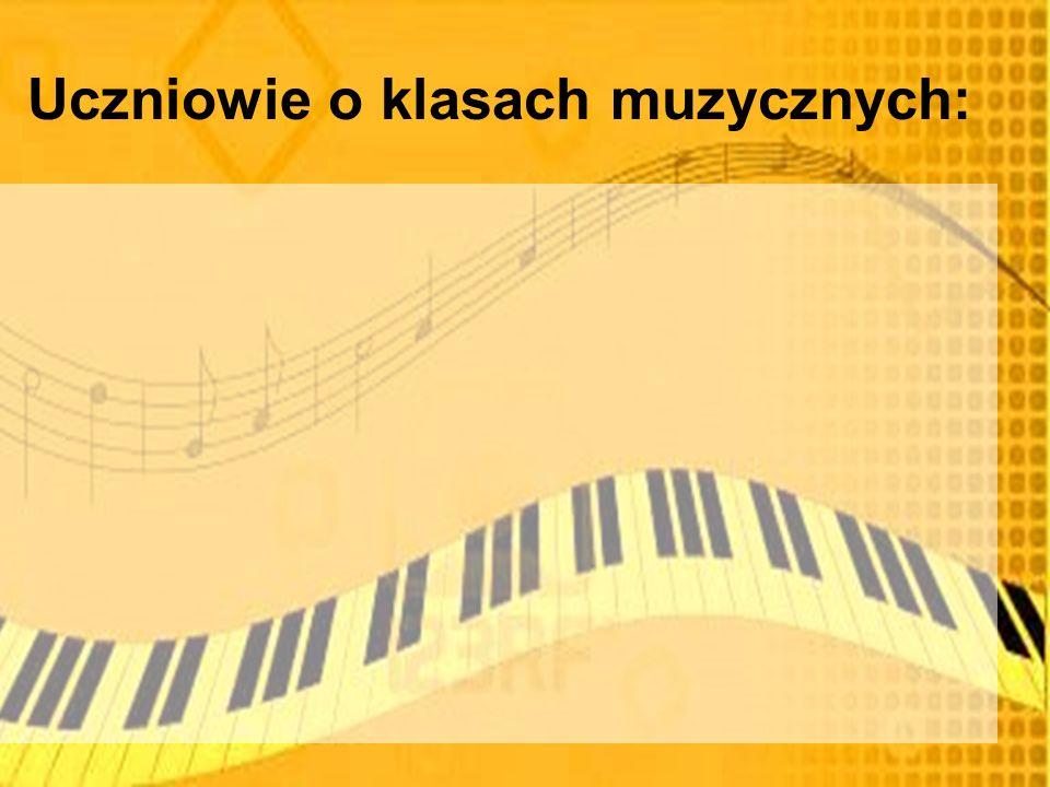 Uczniowie o klasach muzycznych: