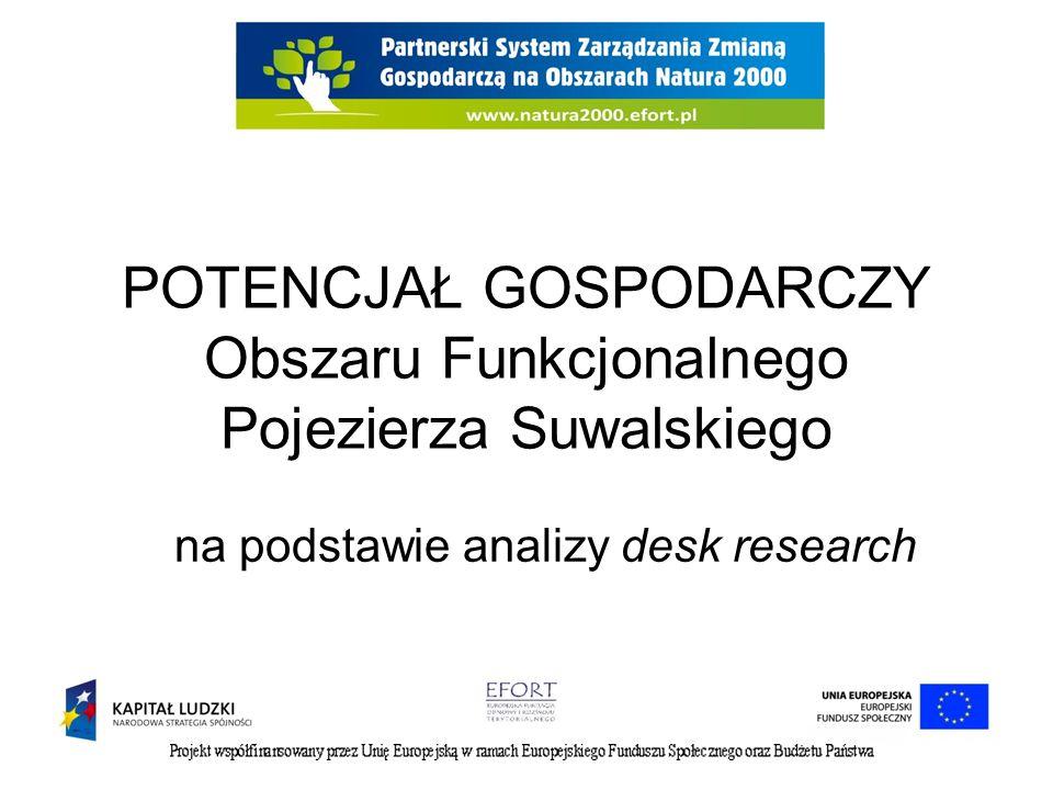 POTENCJAŁ GOSPODARCZY Obszaru Funkcjonalnego Pojezierza Suwalskiego na podstawie analizy desk research