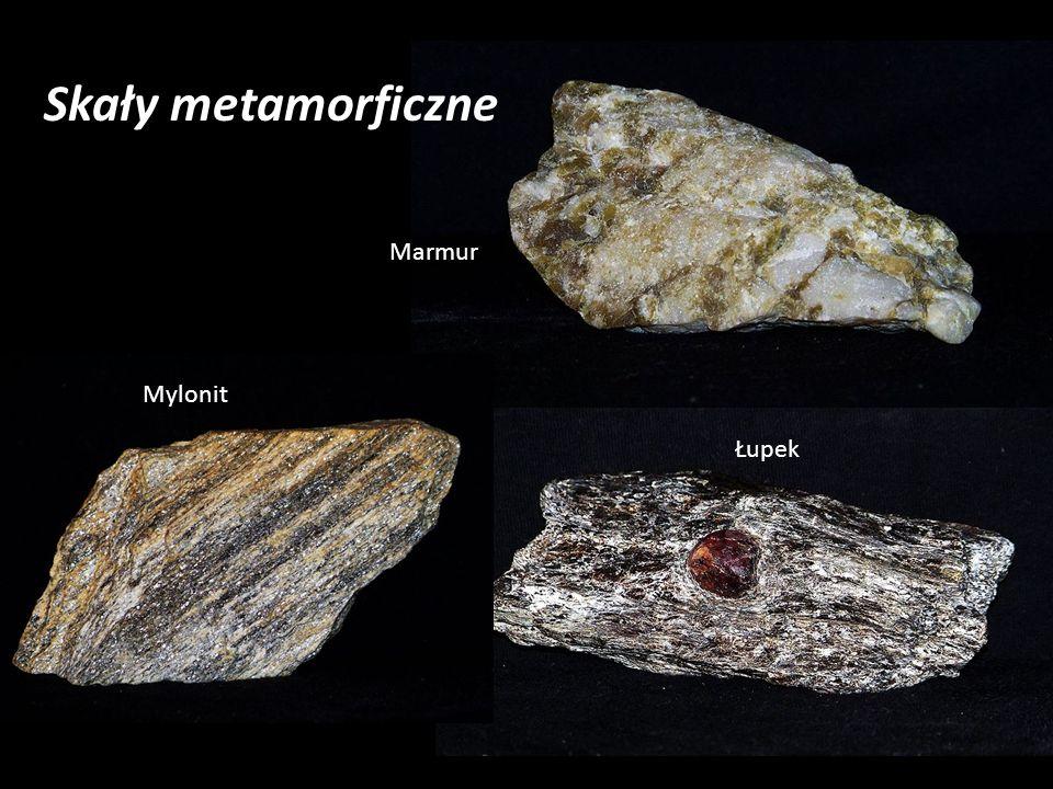 Skały metamorficzne Marmur Łupek Mylonit