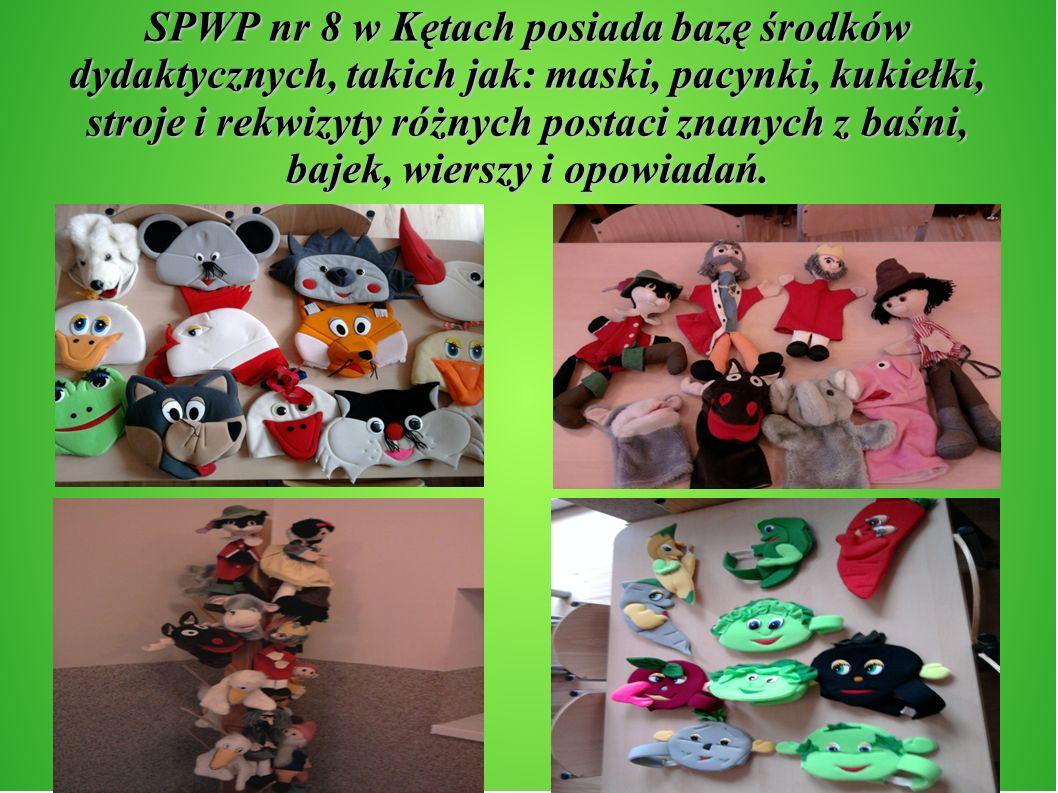 SPWP nr 8 w Kętach posiada bazę środków dydaktycznych, takich jak: maski, pacynki, kukiełki, stroje i rekwizyty różnych postaci znanych z baśni, bajek
