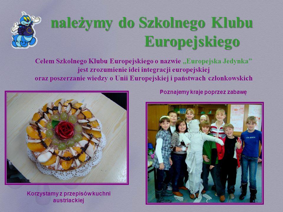 należymy do Szkolnego Klubu Europejskiego Celem Szkolnego Klubu Europejskiego o nazwie Europejska Jedynka jest zrozumienie idei integracji europejskie