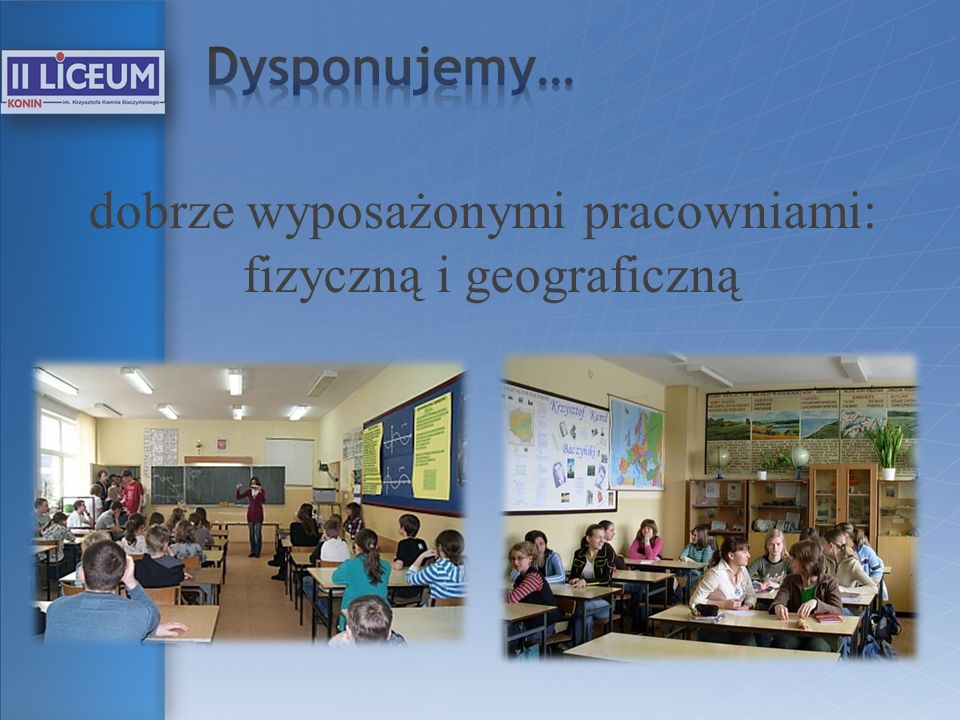 1d - klasa humanistyczno-językowa Przedmioty nauczane w zakresie rozszerzonym: historia, wiedza o społeczeństwie, j.